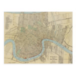 Vintage Map of New Orleans (1919) Post Card