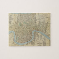 Vintage Map of New Orleans (1919) Puzzle