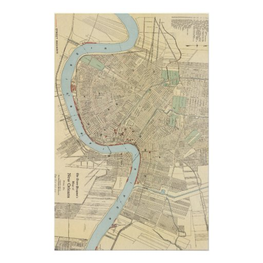 Vintage Map of New Orleans (1919) Personalized Stationery