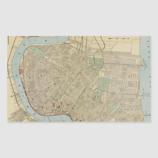 Vintage Map of New Orleans (1919) Stickers