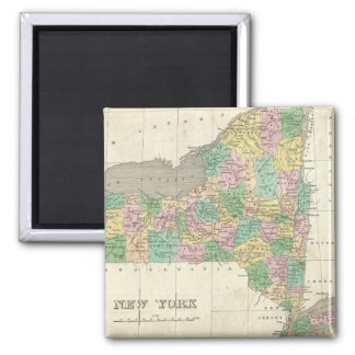 Vintage Map of New York (1827) 2 Inch Square Magnet