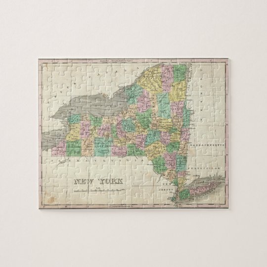 Vintage Map of New York (1827) Jigsaw Puzzle