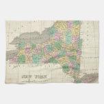Vintage Map of New York (1827) Kitchen Towel