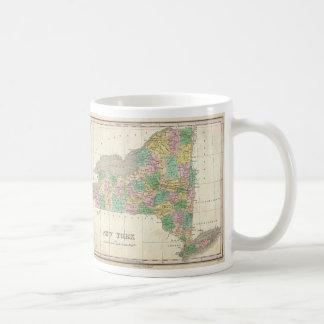Vintage Map of New York (1827) Classic White Coffee Mug