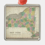 Vintage Map of New York (1827) Ornament