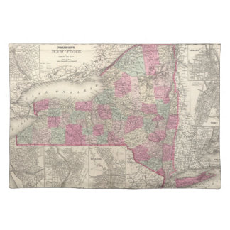 Vintage Map of New York (1864) Cloth Place Mat