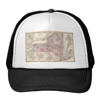 Vintage Map of New York (1864) Trucker Hat