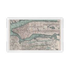 Vintage map of New York (1897) Acrylic Tray