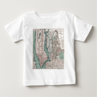 Vintage map of New York (1897) Baby T-Shirt