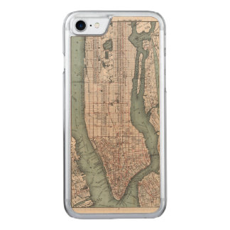 Vintage map of New York (1897) Carved iPhone 8/7 Case