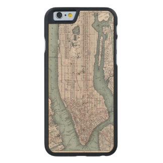 Vintage map of New York (1897) Carved Maple iPhone 6 Case
