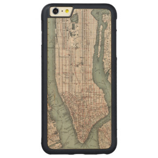Vintage map of New York (1897) Carved Maple iPhone 6 Plus Bumper Case