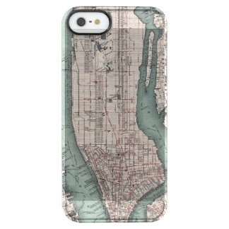 Vintage map of New York (1897) Clear iPhone SE/5/5s Case