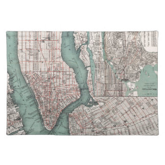 Vintage map of New York (1897) Cloth Placemat