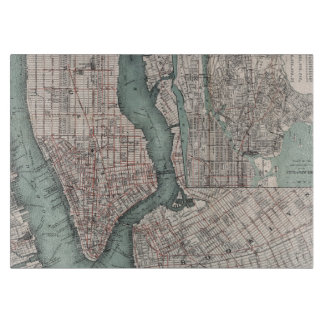 Vintage map of New York (1897) Cutting Board