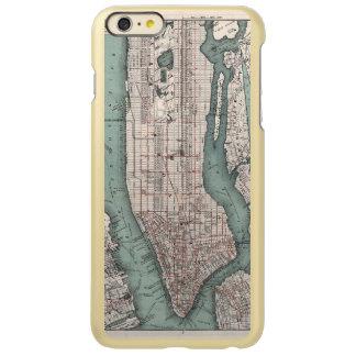 Vintage map of New York (1897) Incipio Feather Shine iPhone 6 Plus Case