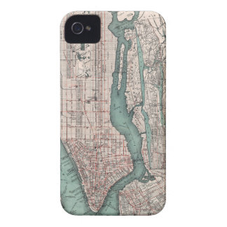 Vintage map of New York (1897) iPhone 4 Case-Mate Case