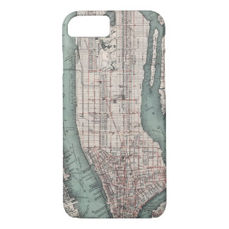 Vintage map of New York (1897) iPhone 8/7 Case