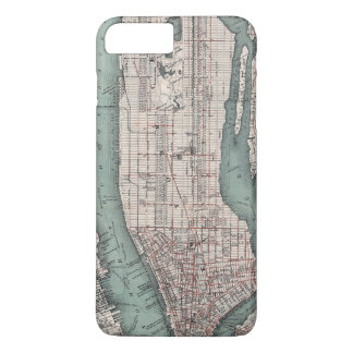 Vintage map of New York (1897) iPhone 8 Plus/7 Plus Case