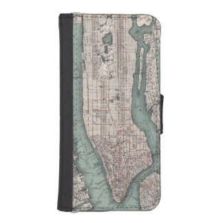 Vintage map of New York (1897) iPhone SE/5/5s Wallet