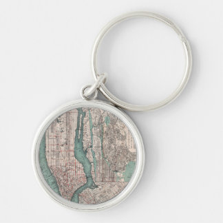 Vintage map of New York (1897) Keychain