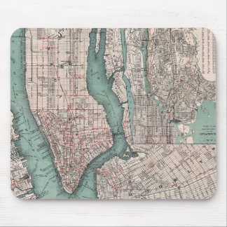 Vintage map of New York (1897) Mouse Pad