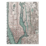 Vintage map of New York (1897) Notebook