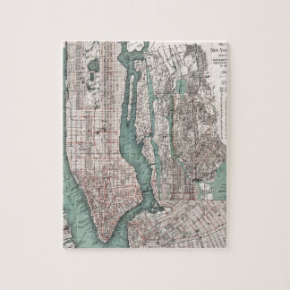 Vintage map of New York (1897) Puzzle