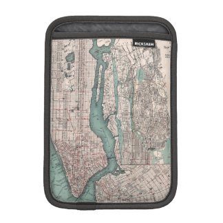 Vintage map of New York (1897) Sleeve For iPad Mini
