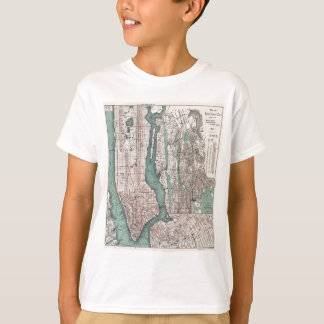 Vintage map of New York (1897) T-Shirt