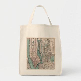Vintage map of New York (1897) Tote Bag