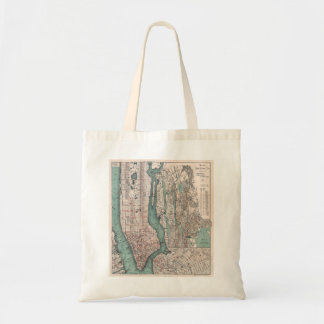 Vintage map of New York (1897) Tote Bag