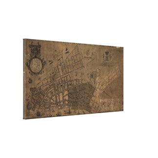 Vintage Map of New York City (1755) Canvas Print