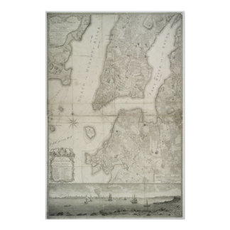 Vintage Map of New York City (1776) Poster