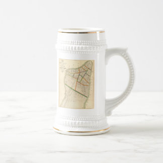 Vintage Map of New York City (1831) Beer Stein