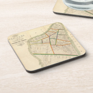 Vintage Map of New York City (1831) Beverage Coaster