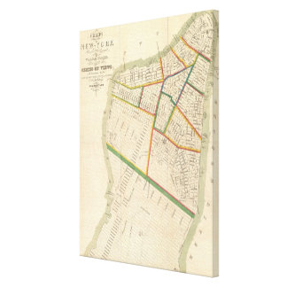 Vintage Map of New York City (1831) Canvas Print