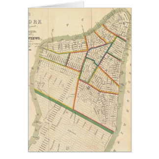 Vintage Map of New York City (1831) Card