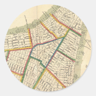 Vintage Map of New York City (1831) Classic Round Sticker
