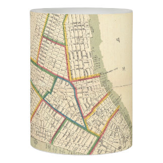 Vintage Map of New York City (1831) Flameless Candle