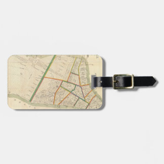 Vintage Map of New York City (1831) Tags For Luggage