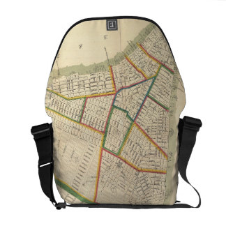 Vintage Map of New York City (1831) Messenger Bags