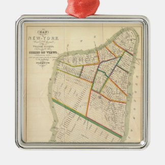 Vintage Map of New York City (1831) Metal Ornament