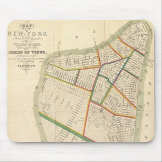 Vintage Map of New York City (1831) Mouse Pad