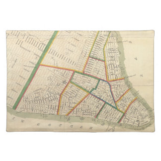 Vintage Map of New York City 1831 Placemat