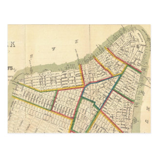 Vintage Map of New York City (1831) Postcard