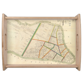 Vintage Map of New York City (1831) Serving Tray