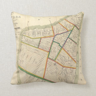 Vintage Map of New York City (1831) Throw Pillow