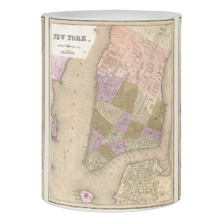 Vintage Map of New York City (1839) Flameless Candle