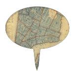 Vintage Map of New York City (1846) Cake Picks
